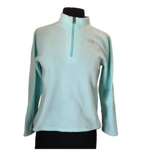 The North Face 1/4 Zip Light Blue